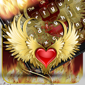 Red Heart Flame Keyboard ❤️ icon
