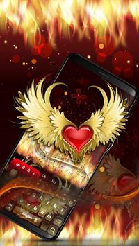 Red Heart Flame Keyboard ❤️ poster