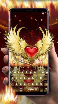 Red Heart Flame Keyboard ❤️ screenshot 1