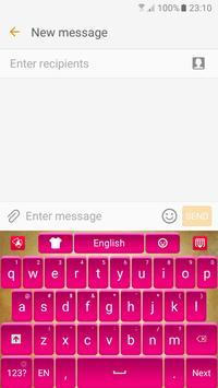 Pink Satin Keyboard poster