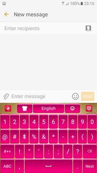 Pink Satin Keyboard apk screenshot
