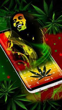 Weed Reggae Keyboard poster