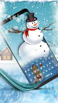 Snowman Keyboard poster