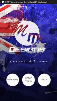 Australia GO Keyboard theme poster