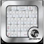 Best White GO Keyboard Theme icon