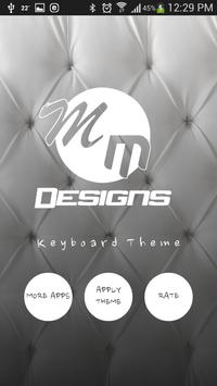 Best White GO Keyboard Theme poster