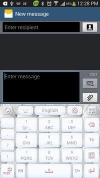 Best White GO Keyboard Theme apk screenshot