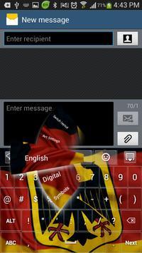 German GO Keyboard HD theme apk screenshot