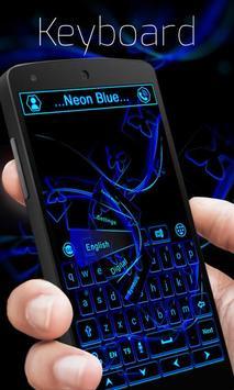 Neon Blue GO Keyboard Theme screenshot 3