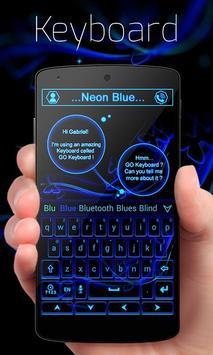 Neon Blue GO Keyboard Theme poster