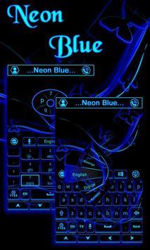 Neon Blue GO Keyboard Theme screenshot 4