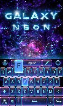 neon blue go keyboard