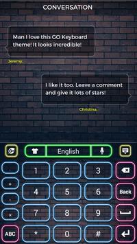 Neon Keyboard Theme apk screenshot