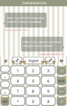 Flower Keyboard Theme apk screenshot
