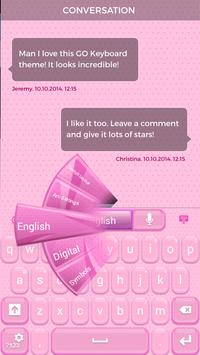 Lovely Pink Keyboard Theme poster