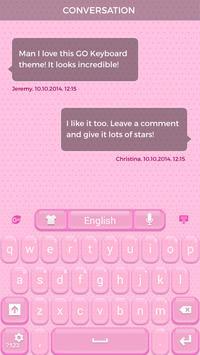 Lovely Pink Keyboard Theme apk screenshot
