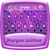 Purple Glitter Keyboard Theme icon
