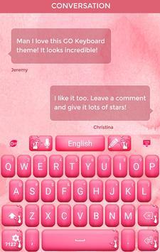 Love Pink Keyboard Theme apk screenshot