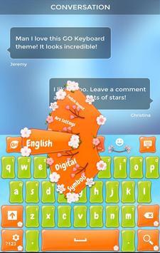 Spring Flowers Keyboard Theme apk screenshot