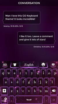 Dark Purple Sparkle Keyboard Theme apk screenshot