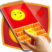 Smirk Emoji Keyboard Theme icon
