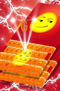 Smirk Emoji Keyboard Theme poster