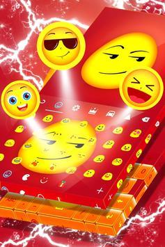 Smirk Emoji Keyboard Theme screenshot 3