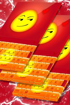 Smirk Emoji Keyboard Theme screenshot 4