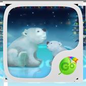 Snowy Teddy GO Keyboard Theme icon