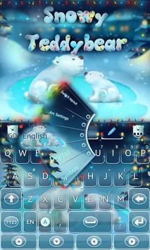 Snowy Teddy GO Keyboard Theme poster