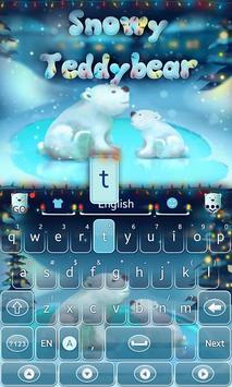 Snowy Teddy GO Keyboard Theme apk screenshot