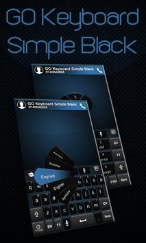 GO Keyboard Simple Black Theme poster
