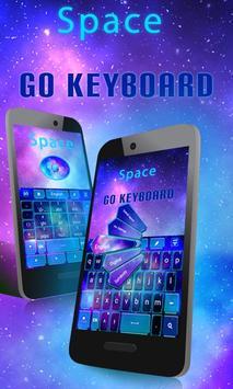 Space GO Keyboard Theme Emoji poster