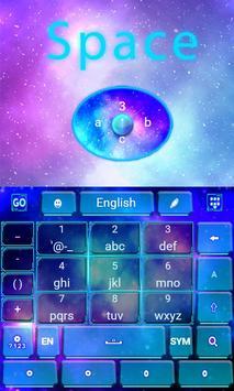 Space GO Keyboard Theme Emoji apk screenshot