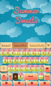 Summer Sweets Keyboard Theme screenshot 5