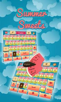 Summer Sweets Keyboard Theme poster