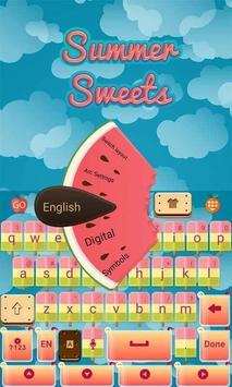 Summer Sweets Keyboard Theme screenshot 1