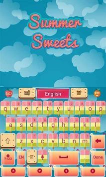 Summer Sweets Keyboard Theme screenshot 3