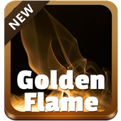 Golden Flame GO Keyboard icon