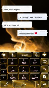 Golden Flame GO Keyboard apk screenshot