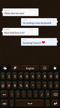 Leather GO Keyboard screenshot 2