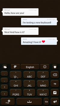 Leather GO Keyboard apk screenshot
