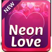 Neon Love Keyboard icon