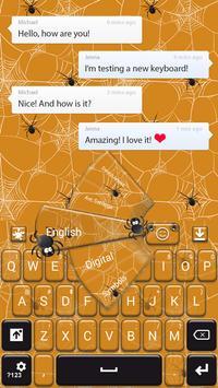Spider Web Keyboard poster