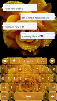 Yellow Rose Keyboard screenshot 1