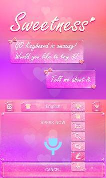 Sweetness GO Keyboard Theme apk screenshot