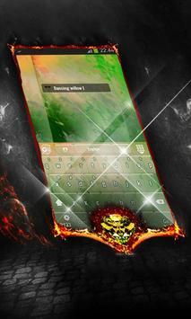 Dancing willow Keyboard Cover apk screenshot