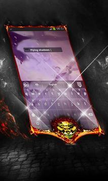 Flying shadows Keyboard Cover apk screenshot