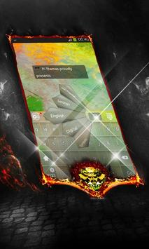 Flowing lava Keyboard Cover poster