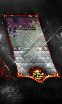 Silver vines Keyboard Cover apk screenshot